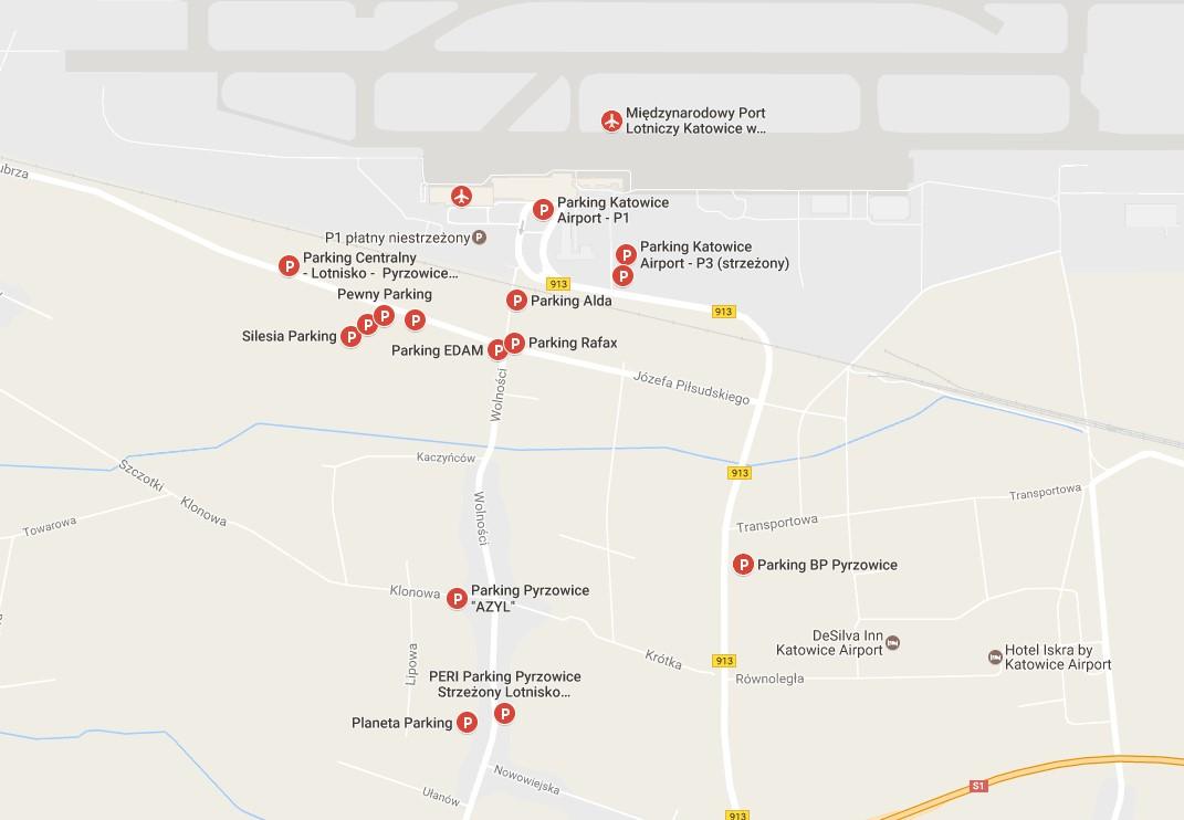 Parkingi Katowice Pyrzowice